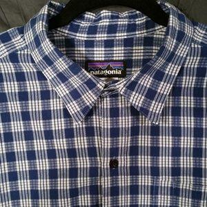 PATAGONIA Short Sleeve Checkered Button Shirt